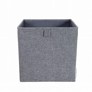 Cube De Rangement : bo te de rangement cube tissu gris chin ~ Farleysfitness.com Idées de Décoration