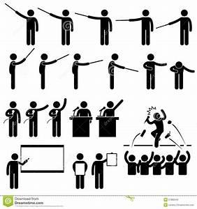Speaker Presentation Teaching Pictogram Stock Photo ...