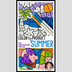Color By Product Summer Multiplication  Awesome Products From Washington Tpt Creators