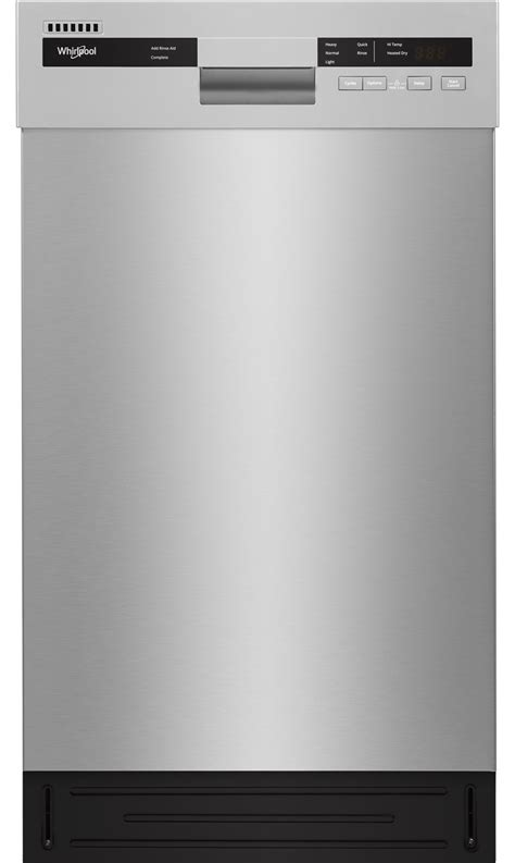"Whirlpool 18"" Stainless Built In Dishwasher   WDF518SAHM"
