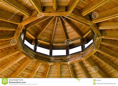 gazebo roof stock photo image  roof wood