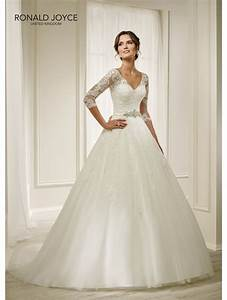 ronald joyce 69211 holly detailed ball gown with 3 4 With shop designer wedding dresses