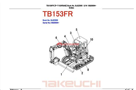 takeuchi excavator tb153 fr parts manual auto repair manual heavy equipment