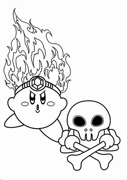 Kirby Fire Coloring Pages Death Play
