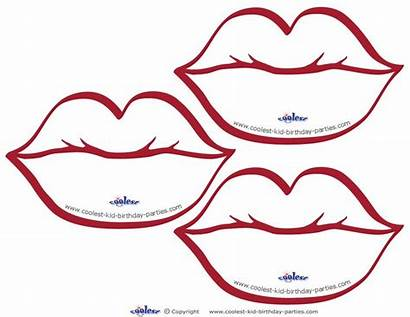 Printable Lips Coloring Pages Template Cut Colouring