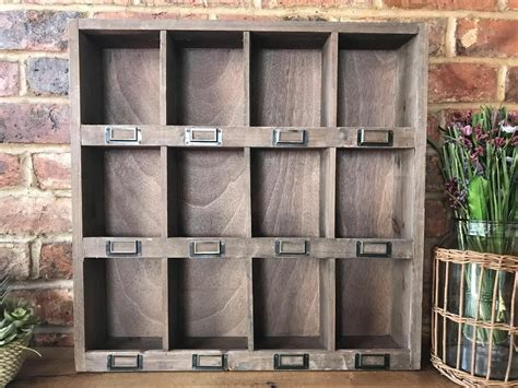 Vintage Shabby Chic Cupboard Cabinet 12 Pigeon Hole Wall