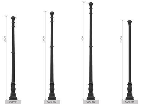 pali per illuminazione illuminazione gt pali classici in ghisa gt 180 circolare ondul