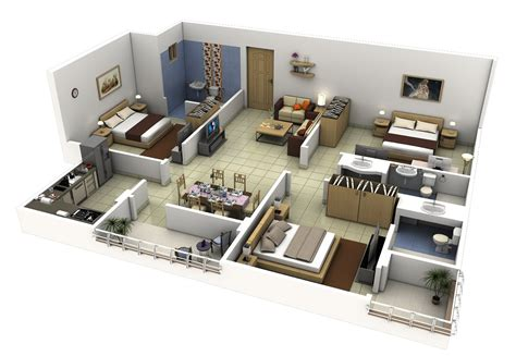 3 bedroom home plans 3 bedroom apartment house plans