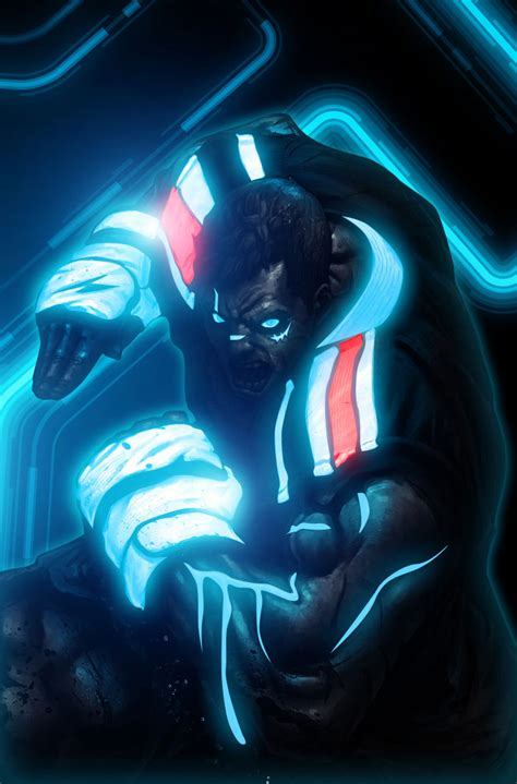 Mind Blowing Tron Inspired Street Fighter Art Featuring ...