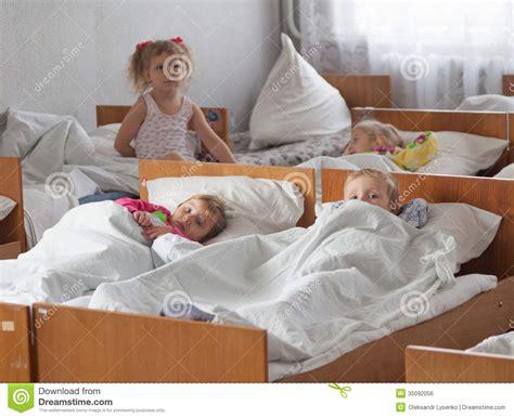 sleeping  beds children editorial photo image