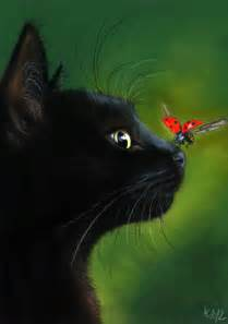 black cat painting black cat and ladybug by it on deviantart