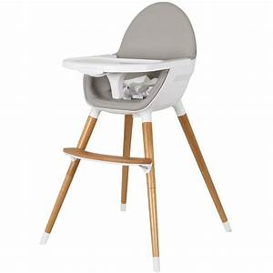 Childcare Baby High Chair w/ Timber Legs in White Buy