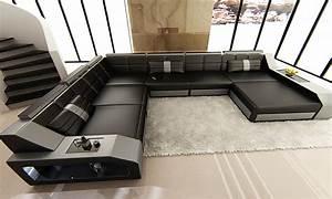 Wohnlandschaft Xxl Mit Schlaffunktion : luxus designersofa aus leder groupon goods ~ Bigdaddyawards.com Haus und Dekorationen
