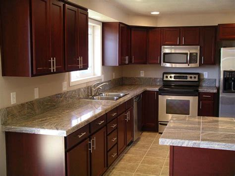 kitchen cabinet and countertop ideas granite cherry cabinets kitchen kitchen after remodel