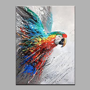 parrot animal oil painting wall art modern canvas art