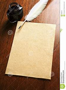 Old Blank Paper And Quill Pen Stock Image - Image: 9806015