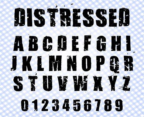 Distressed font svg Grunge font svg Grunge alphabet svg   Etsy