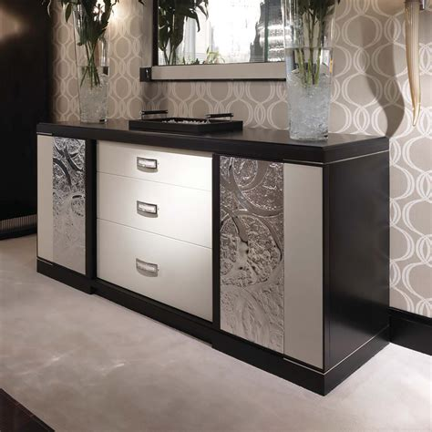 Modern Sideboard Furniture by Luxury Modern And White Leather Sideboard