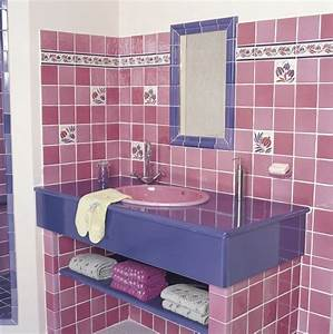 best salle de bain rose et taupe pictures amazing house With faience salle de bain rose
