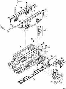 Mercruiser Black Scorpion 350 Mag Mpi Intake Manifold  U0026 Fuel Rail Parts