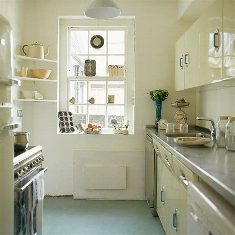 kitchen with 1950s units and modern appliances