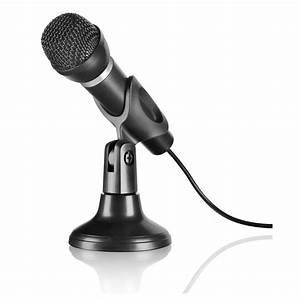Speedlink Capo Desk  U0026 Hand Microphone With 2m Cable  Black