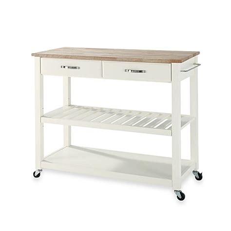 rolling kitchen island cart buy crosley wood top rolling kitchen cart island 4866