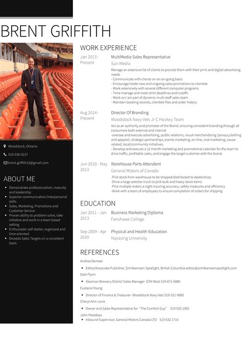 Resume And Curriculum Vitae Exles by Sales Rep Resume Sles Templates Visualcv