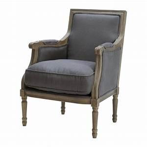 Fauteuil Suspendu Maison Du Monde : fauteuil en lin taupe gris casanova maisons du monde ~ Premium-room.com Idées de Décoration