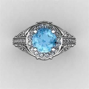 italian 14k white gold 10 ct blue topaz diamond With italian gold wedding rings