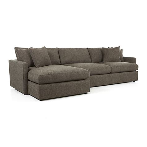 crate and barrel lounge sofa ottoman lounge ii 2 piece sectional sofa truffle crate and barrel