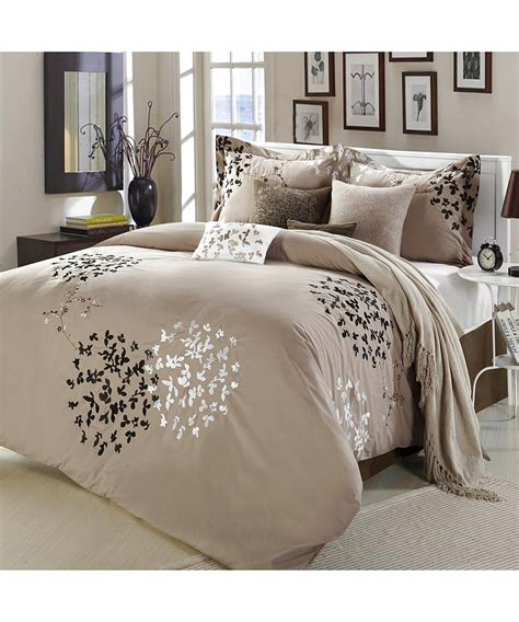 taupe bedding chic home cheila taupe comforter bed in a bag set king 8 piece bluefly com