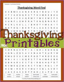 Free Printable Thanksgiving Word Search Worksheets