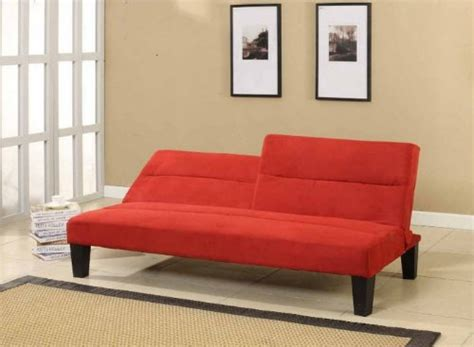 kebo futon sofa bed red wooden global