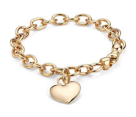 gold bracelet 14k puffed tag bracelet in 14k yellow gold blue nile