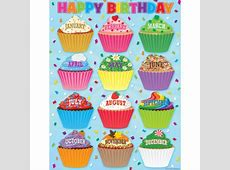 Cupcakes Happy Birthday Chart TCR7626 Teacher Created