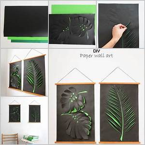 Creative Ideas - DIY Paper Leaf Wall Art