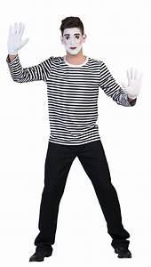 Kostüm Pantomime Damen : kost m clown harlekin pierrot pantomime herren damen schwarz wei gestreift kk ebay ~ Frokenaadalensverden.com Haus und Dekorationen