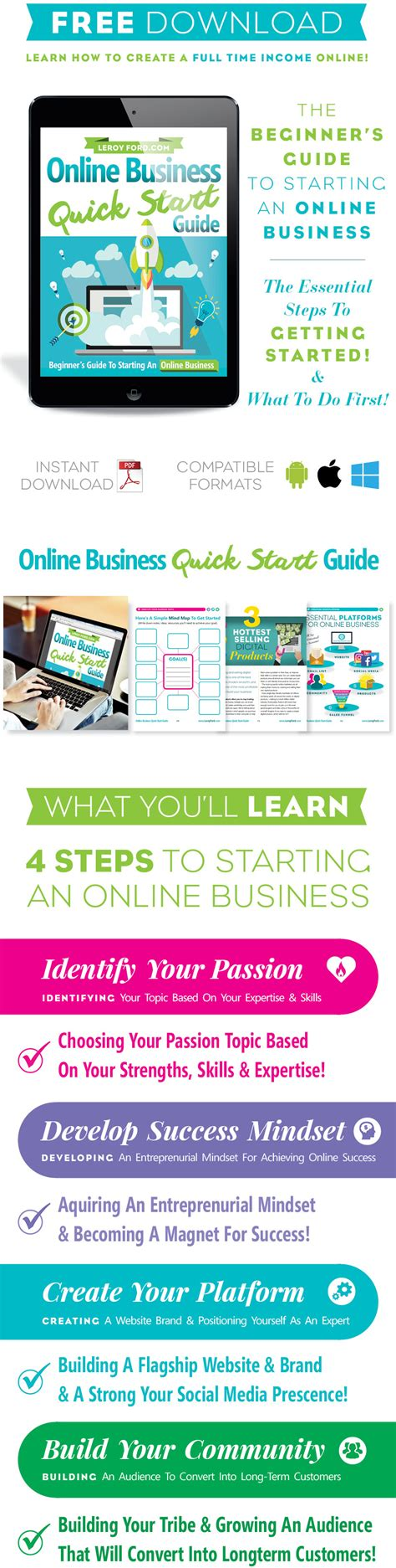 Free Download  Online Business Quick Start Guide