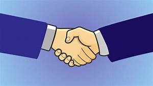 Make Key Business Relationships Animation With Hand Shake ...