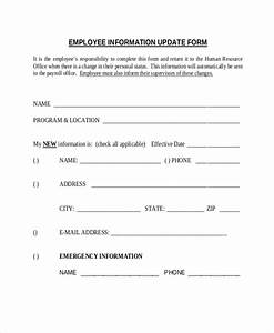 employee details form samples vlashed With update contact information form template