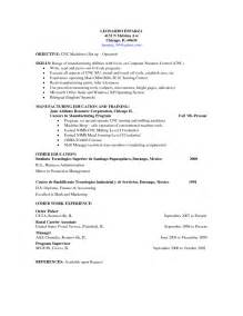 resume for cnc machine operator cnc machine operator sle resume resumes design