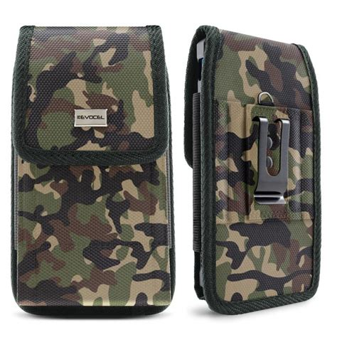 urban pouch camouflage canvas belt loop cell phone case