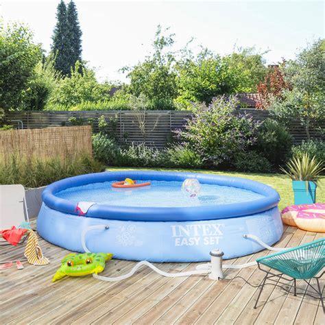 leroy merlin piscine gonflable piscine hors sol autoportante gonflable easy set intex diam 3 96 l 3 96 x l 3 leroy merlin