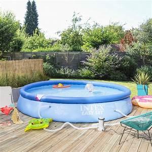 Piscine Hors Sol Plastique : piscine hors sol autoportante gonflable easy set intex ~ Premium-room.com Idées de Décoration