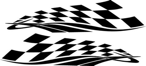 checkered flag vinyl die cut racing decals xtreme