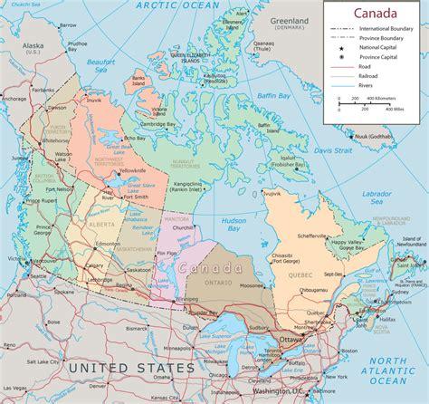 map  canada  lakes