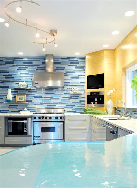 blue kitchen tiles ideas blue backsplash kitchen decobizz com
