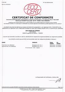 Certificat De Conformité Mercedes : certificat et licence ecocert ~ Gottalentnigeria.com Avis de Voitures