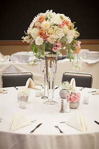 Wedding Bouquet Vases Wild Centerpiece With Blush And